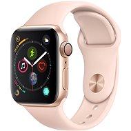 Apple Watch Series 4 44 mm Zlatý hliník s pieskovo ružovým športovým remienkom - Smart hodinky