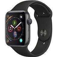Apple Watch Series 4 44 mm Vesmírne čierny hliník s čiernym športovým remienkom - Smart hodinky