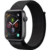 Apple Watch Series 4 44mm Vesmírne čierny hliník s čiernym prevliekacím športovým remienkom - Smart hodinky
