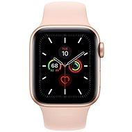Apple Watch Series 5 40 mm Zlatý hliník s pieskovo ružovým športovým remienkom - Smart hodinky