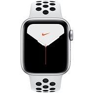 Apple Watch Nike Series 5 40 mm Strieborný hliník s platinovým/čiernym športovým remienkom Nike - Smart hodinky
