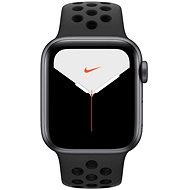 Apple Watch Nike Series 5 40 mm Vesmírne sivý hliník s antracitovým/čiernym športovým remienkom Nike - Smart hodinky