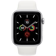 Apple Watch Series 5 44mm Silver Aluminium with White Sports Strap - Smartwatch
