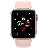 Apple Watch Series 5 44mm Gold aluminum with sand pink sports strap - Smartwatch
