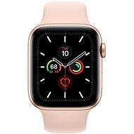 Apple Watch Series 5 44 mm Zlatý hliník s pieskovo ružovým športovým remienkom - Smart hodinky