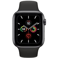 Apple Watch Series 5 44mm Space Grey Aluminium with Black Sports Strap - Smartwatch