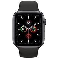 Apple Watch Series 5 44 mm Vesmírne sivý hliník s čiernym športovým remienkom