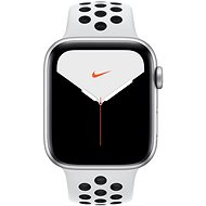 Apple Watch Nike Series 5 44mm Silver Aluminum with Nike Platinum/Black Sports Strap - Smartwatch