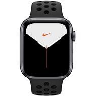Apple Watch Nike Series 5 44 mm Vesmírne sivý hliník s antracitovým/čiernym športovým remienkom Nike - Smart hodinky