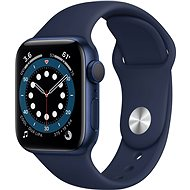 Apple Watch Series 6 40mm Blue Aluminium with Navy Blue Sports Strap - Smartwatch