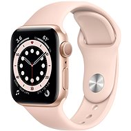 Apple Watch Series 6 40mm Gold Aluminium with Sand-pink Sports Strap - Smartwatch