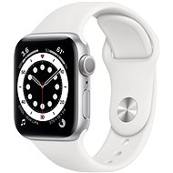 Apple Watch Series 6 44mm Silver Aluminium with White Sports Strap - Smartwatch