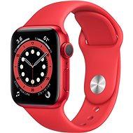 Apple Watch Series 6 44 mm Červený hliník s červeným športovým remienkom - Smart hodinky