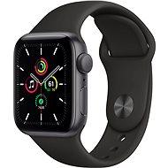 Apple Watch SE 40 mm Vesmírne čierny hliník s čiernym športovým remienkom - Smart hodinky