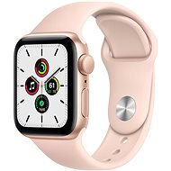 Apple Watch SE 44mm Gold Aluminium with Sand-pink Sports Strap - Smartwatch