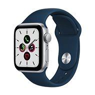 Apple Watch SE 40mm Silver Aluminum with Deep Sea Blue Sport Strap