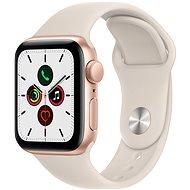 Apple Watch SE 40 mm Zlatý hliník s hviezdne bielym športovým remienkom - Smart hodinky