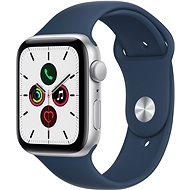 Apple Watch SE 44mm Silver Aluminium Case with Abyss Blue Sport Band