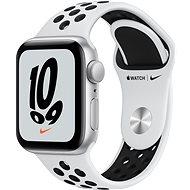 Apple Watch Nike SE 40 mm Strieborný hliník s platinovým/čiernym športovým remienkom Nike - Smart hodinky