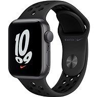 Apple Watch Nike SE 40 mm Vesmírne sivý hliník s antracitovým/čiernym športovým remienkom Nike - Smart hodinky