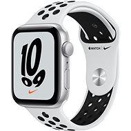 Apple Watch Nike SE 44 mm Strieborný hliník s platinovým/čiernym športovým remienkom Nike - Smart hodinky