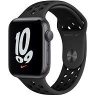 Apple Watch Nike SE 44 mm Vesmírne sivý hliník s antracitovým/čiernym športovým remienkom Nike - Smart hodinky