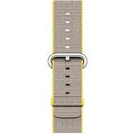Apple 38 mm Žltý/svetlo sivý z tkaného nylonu - Remienok