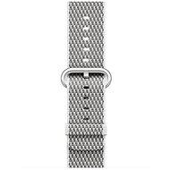 Apple 38 mm Biely z tkaného nylonu (prešívanie) - Remienok