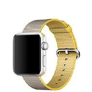 Apple 42 mm Žltý/svetlo šedý z tkaného nylonu - Remienok