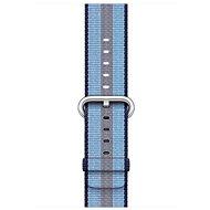 Apple 42 mm Polnočne modrý z tkaného nylonu (prúžky) - Remienok