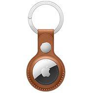 Apple AirTag kožená kľúčenka sedlovo hnedá - Kľúčenka