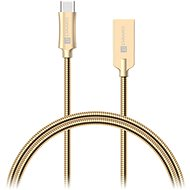 CONNECT IT Wirez Steel Knight USB-C 1m, metallic gold - Dátový kábel