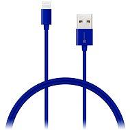 CONNECT IT Colorz Lightning Apple 1m modrý - Dátový kábel
