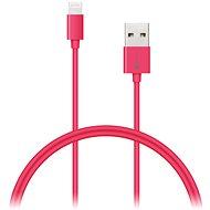 CONNECT IT Colorz Lightning Apple 1m ružový - Dátový kábel