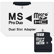 CONNECT IT MS PRO DUO na 2× Micro SDHC - Adaptér