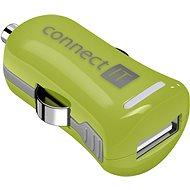 CONNECT IT InCarz Charger ONE 2.1A zelená (V2) - Nabíjačka do auta