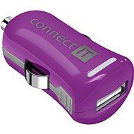 CONNECT IT InCarz Charger ONE 2.1A fialová (V2) - Nabíjačka do auta