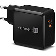 CONNECT IT InWallz QUALCOMM QUICK CHARGE 3.0 čierna