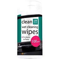 CLEAN IT Čistiace obrúsky mokré na plasty 100ks - Čistiaci prostriedok