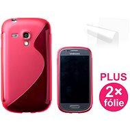 CONNECT IT S-Cover Samsung Galaxy S III Mini (i8190) červené - Ochranný kryt