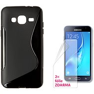 CONNECT IT S-Cover Samsung Galaxy J3/J3 Duos 2016 (SM-J320F) čierny - Kryt na mobil