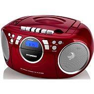 Hyundai TRC 788 AU3RS červeno-strieborný - Rádiomagnetofón