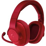 Logitech G433 Surround Sound Gaming Headset červený - Herné slúchadlá