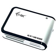 i-TEC USB 2.0 All-in One reader čierno-biela - Čítačka kariet