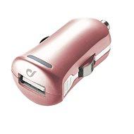 Cellularline Unique Design car charger pro iPhone ružovo-zlatá