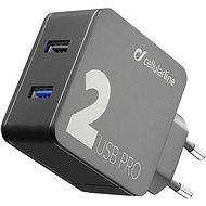 Cellularline Multipower 2 PRO s technologií Smartphone Detect 2 x USB port 30W černá