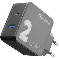 Cellularline Multipower 2 PRO+ s technologií Smartphone Detect USB-C + USB port 36W černá