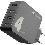 Cellularline Multipower 4 s technologií Smartphone Detect 4 x USB port 42W černá