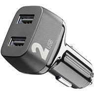 Cellularline Car Multipower 2 s technologií Smartphone Detect 2 x USB port 24W černá  - Nabíjačka do auta
