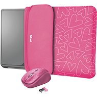 TRUST YVO MOUSE & SLEEVE F/15.6 – PINK